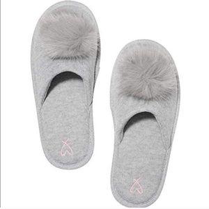 Victoria's Secret Gray Slippers Sz Small NWT